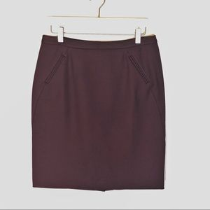 Loft pencil skirt dark purple NWT 6P